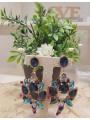 Pendientes cristal piedras azules
