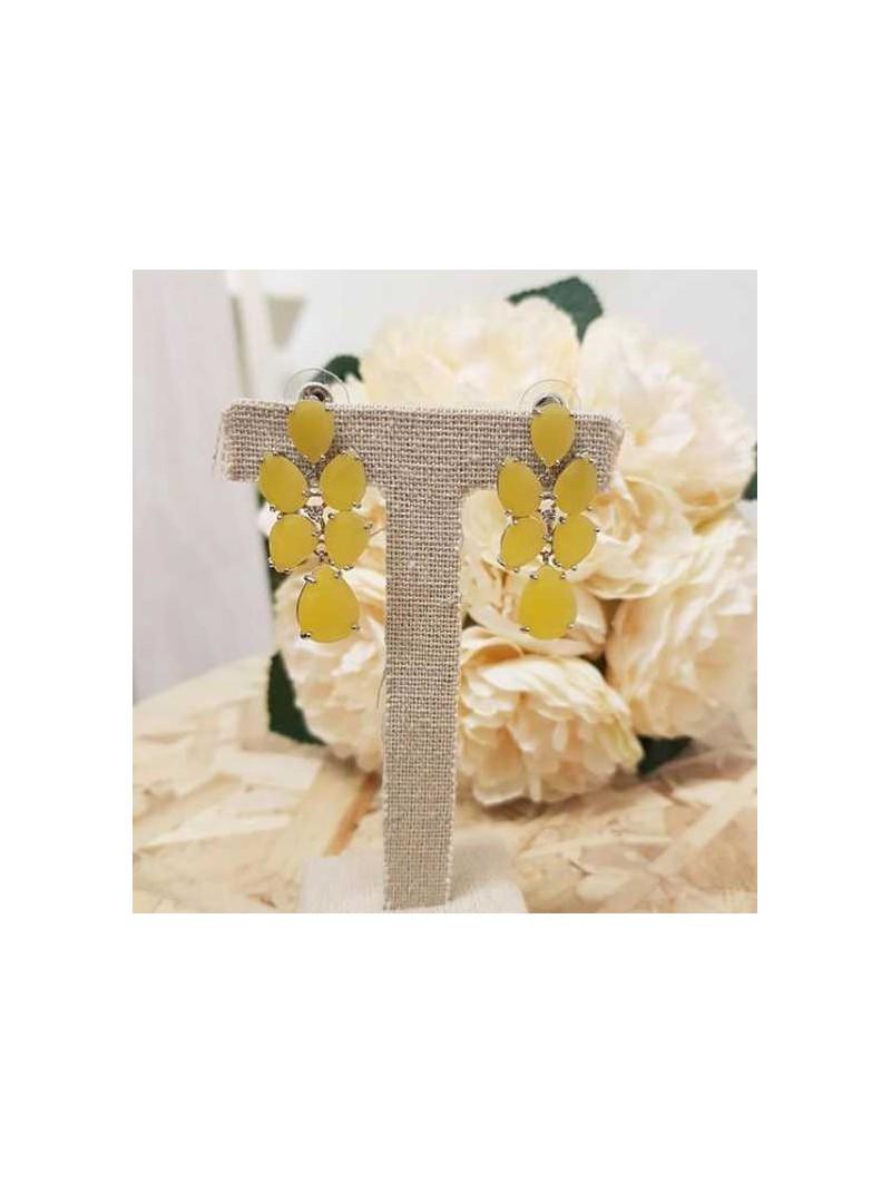 Pendientes amarillos piedras