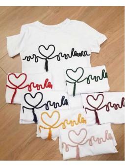 Camiseta corazón cardio bordado
