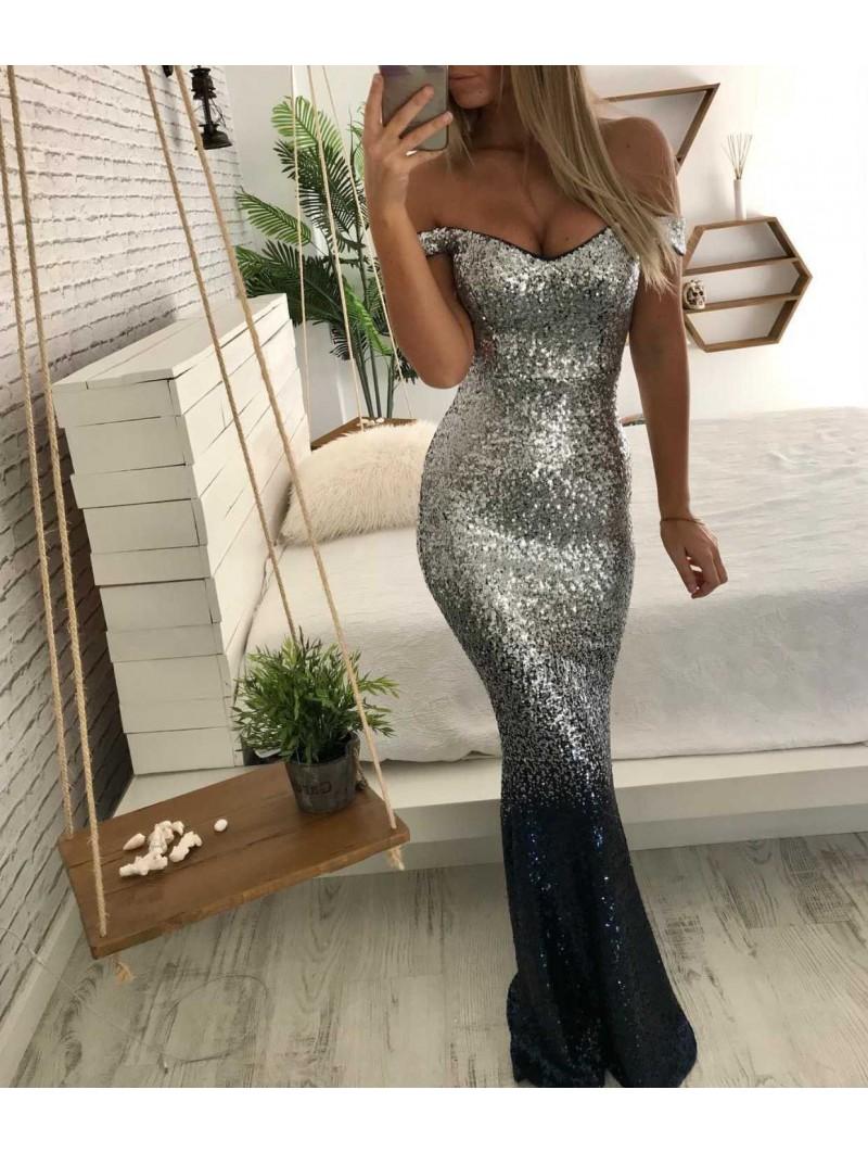 Vestido entubado glitter