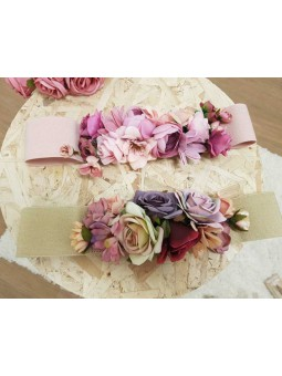 Cinturon elástico flores