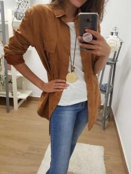 Camiseta coderas camel // Camisa ante camel