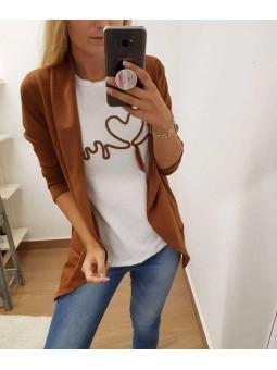 Blazer.marron // Camiseta cardio marrón