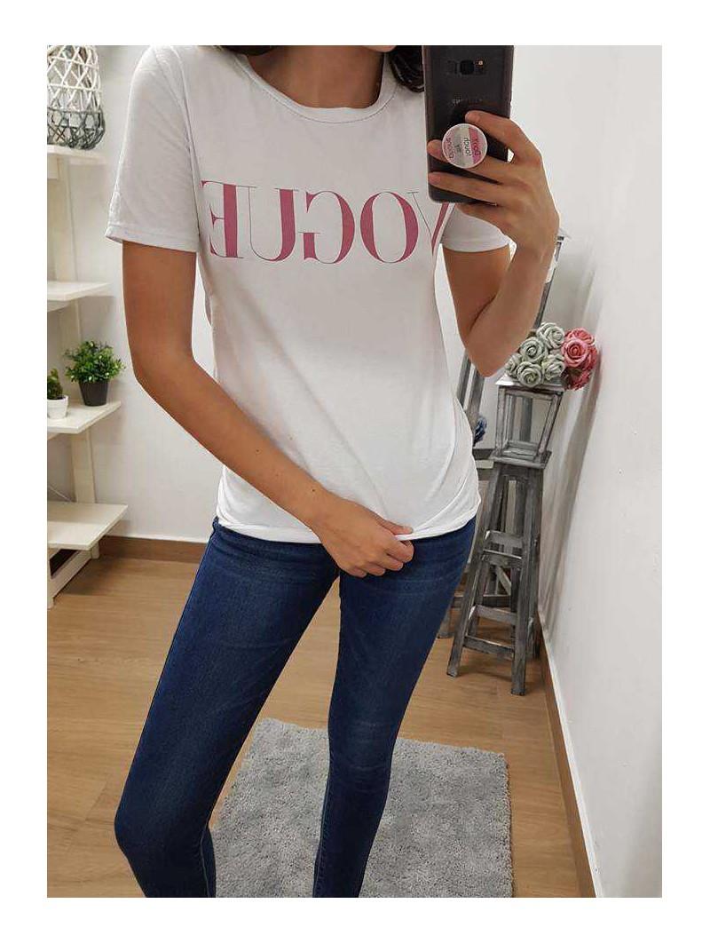 Camiseta Vogue rosa