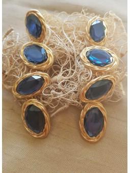 Pendientes piedras azules
