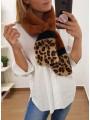 Bufanda camel leopardo