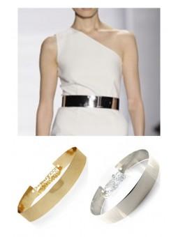 Cinturon rigido dorado //...
