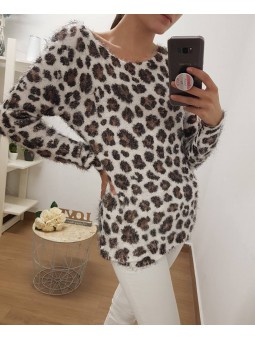Suéter pelito leopardo