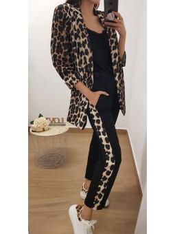 Traje chaqueta leopardo
