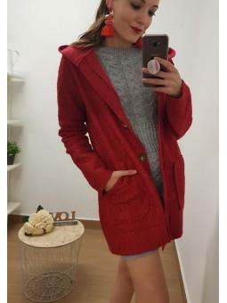 Abrigo rojo borreguito y...