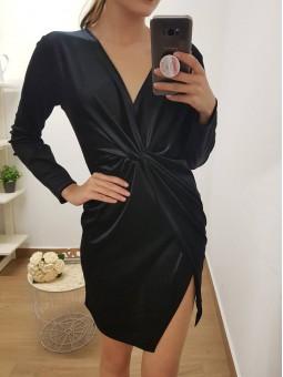 Vestido negro terciopelo...