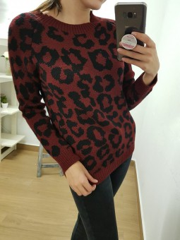 Suéter manchas leopardo...