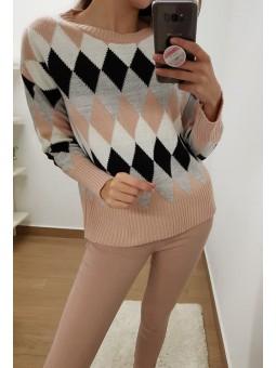 Pantalón vaquero rosa palo
