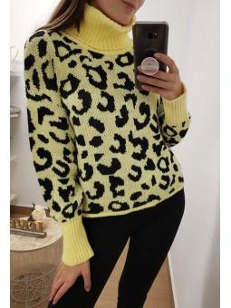 Suéter flúor leopardo