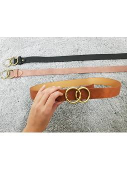 Cinturón liso hebilla...