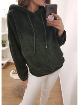 Sudadera pelito verde oliva
