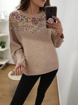 Suéter rosa palo...