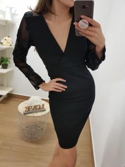 Vestido negro espalda y...