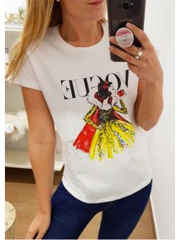 Camiseta Blancanieves corazón