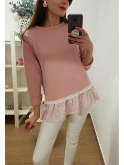 Sudadera rosa camisa...