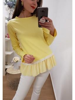 Sudadera amarilla camisa...