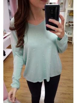 Suéter mini pompones