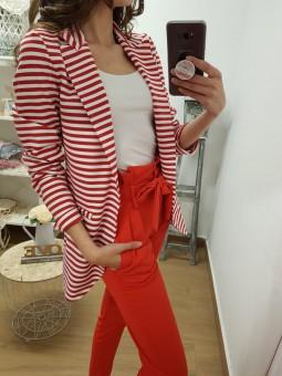 Blazer rayas rojas y blancas