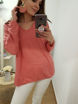 Sueter oversize coral //...