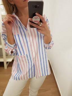 Camisa blanca rayas...