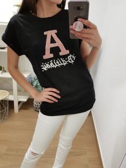 Camiseta manga corta letra...