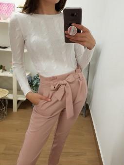 Pantalón lazada rosa