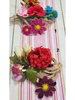 Cinturon cuerda flores