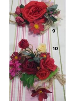 Cinturón cuerda flores