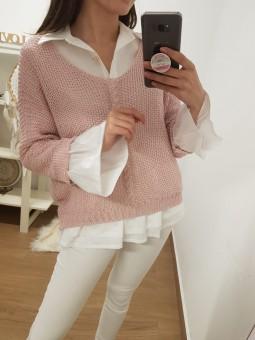 Suéter trenza delante