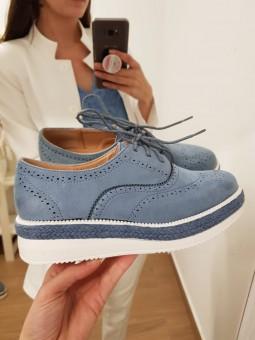 Zapatos cordones azul