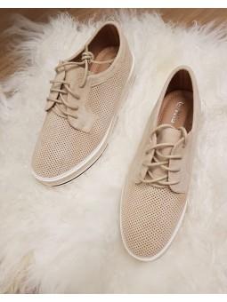 Zapatos cordones beig