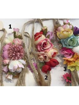 Cinturón flores cuerda