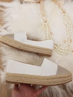 Zapato esparto fondo blanco...