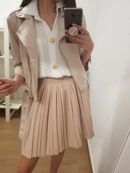 Falda rosa palo plisada //...