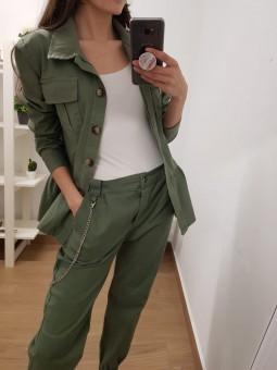 Pantalón militar cadena verde