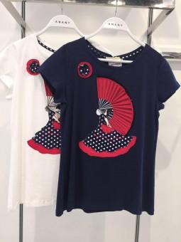 Camiseta abanico flamenca