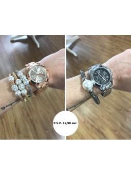 Conjunto reloj y pulsera