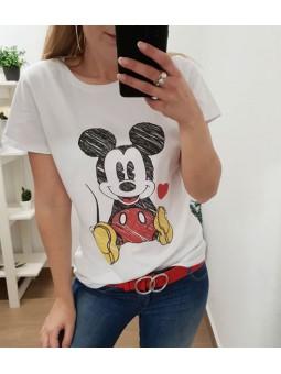 Camiseta Mickey corazón