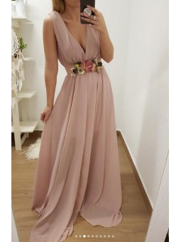 Vestido gasa rosa //...