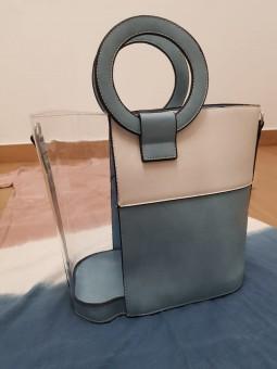 Bolso trasparente bicolor...
