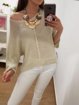 Conjunto suéter tricot...