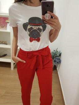 Camiseta perrito pajarita...