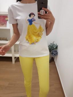 Pantalón elástico amarillo
