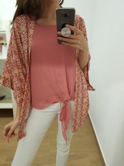 Kimono estampado rosa //...