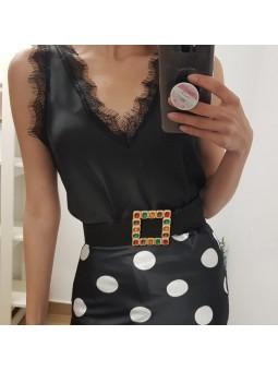Cinturón negro piedras...
